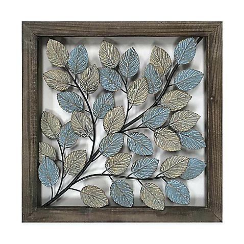 Metal Framed Wall Art Wall Art Decor Metal Framed Wall Decor With Regard To Abstract Leaf Metal Wall Art (Image 7 of 15)