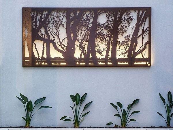 Metal Garden Art & Sculptures   Outdoor Metal Wall Art & Screens With Regard To Australia Wall Accents (Image 8 of 15)