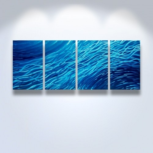 Metal Wall Art Abstract Contemporary Modern Sculpture Ocean In Abstract Ocean Wall Art (View 8 of 15)