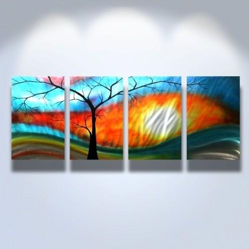 Metal Wall Art Abstract Modern Sculpture Zen Nature Shadow Tree For Abstract Nature Wall Art (View 2 of 15)
