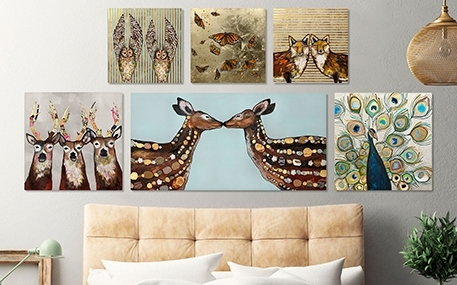 Metallic & Embellished Canvas Wall Art | Greenbox Art In Embellished Canvas Wall Art (Image 10 of 15)