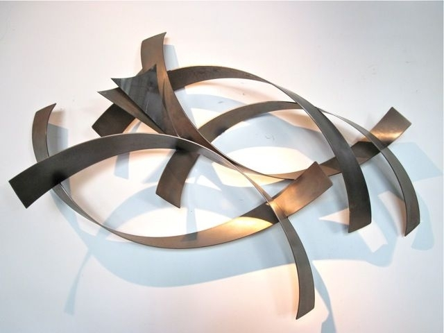 Metro Modern Curtis Jere Abstract Metal Wall Sculpture – Abstract For Abstract Iron Wall Art (View 12 of 15)