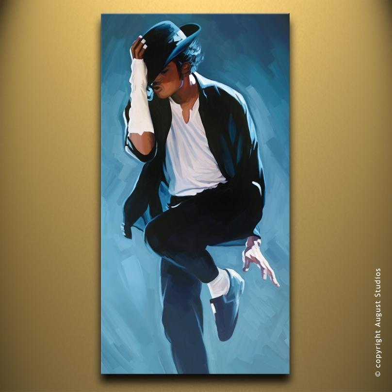Michael Jackson Canvas Artwork | August Studios Regarding Michael Jackson Canvas Wall Art (Image 9 of 15)