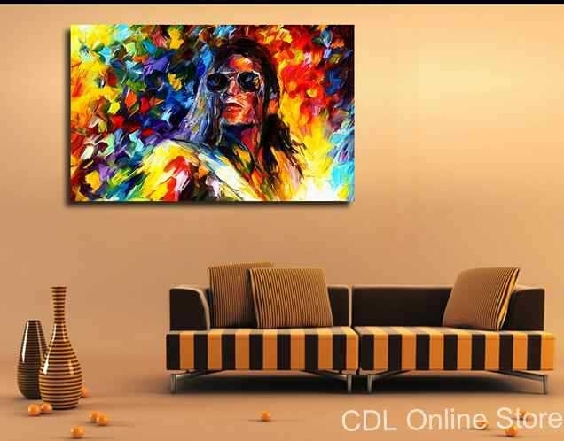 Michael Jackson Canvas Painting Modern Wall Art Home Decoration In Michael Jackson Canvas Wall Art (Image 10 of 15)