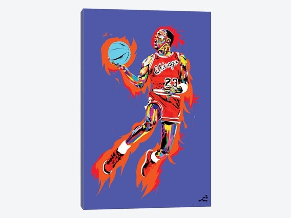 Michael Jordan Art Print Michael Jordan Canvas Wall Art Mj Intended For Michael Jordan Canvas Wall Art (Image 8 of 15)