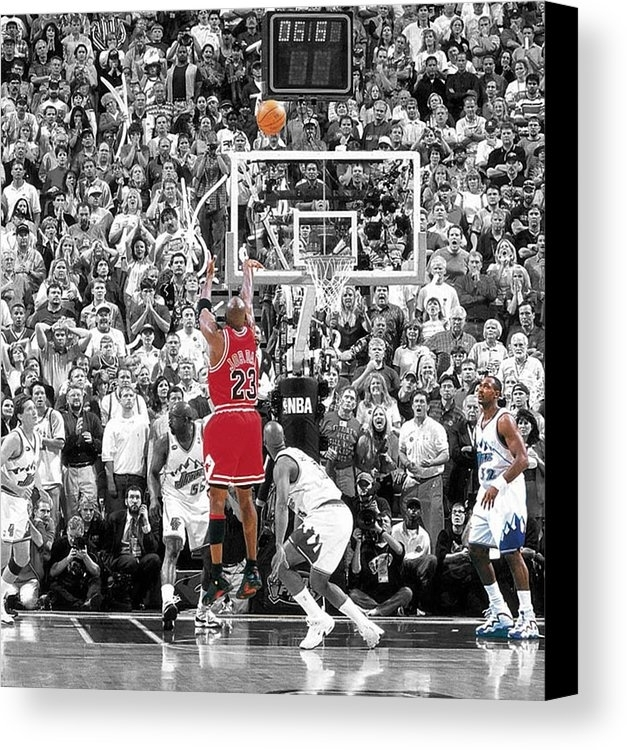 Michael Jordan Buzzer Beater Canvas Print / Canvas Artbrian Reaves Throughout Michael Jordan Canvas Wall Art (Image 9 of 15)