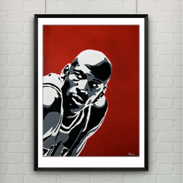 Michael Jordan Poster Canvas Painting Wall Picture Canvas Art Within Michael Jordan Canvas Wall Art (Image 10 of 15)