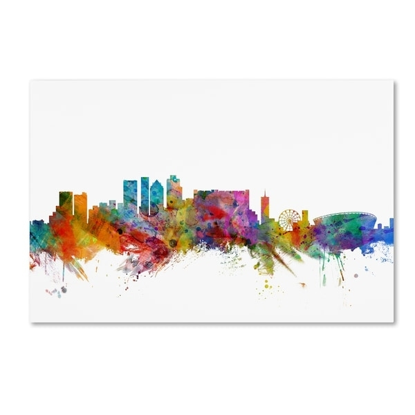 Michael Tompsett 'cape Town South Africa Skyline' Canvas Wall Art Within Cape Town Canvas Wall Art (Image 13 of 15)