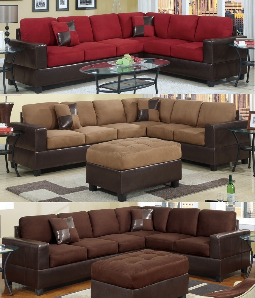 Microfiber Sectional: Sofas, Loveseats & Chaises | Ebay With Sectional Sofas At Ebay (Image 4 of 10)