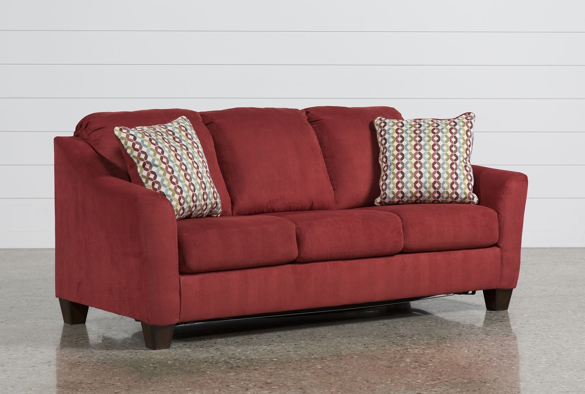 Milari Linen Queen Sofa Sleeper – Main | New Digs | Pinterest | Sofa Within Red Sleeper Sofas (View 10 of 12)