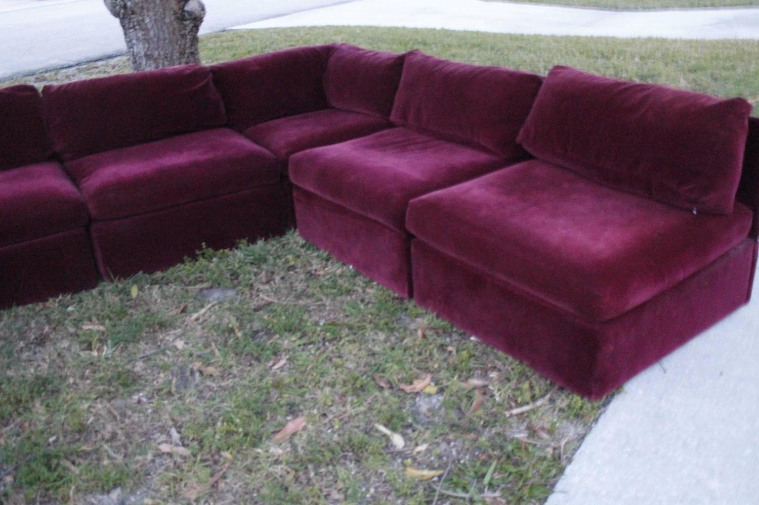 Milo Baughman For Thayer Coggin Tagged Nine Piece Sectional Sofa In Vintage Sectional Sofas (Image 3 of 10)
