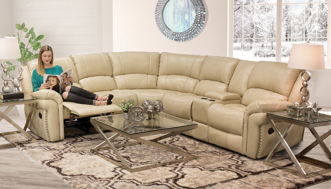 Milton Ivory Sectional – Home Zone Furniture | Living Room Regarding Home Zone Sectional Sofas (View 9 of 10)