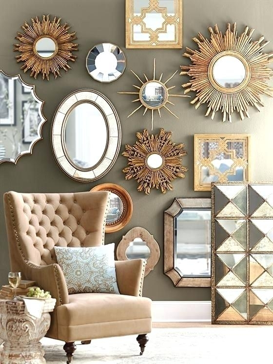 Mirror Wall Decorations Captivating Wall Decor Mirror Sets Design With Regard To Mirror Sets Wall Accents (Image 7 of 15)