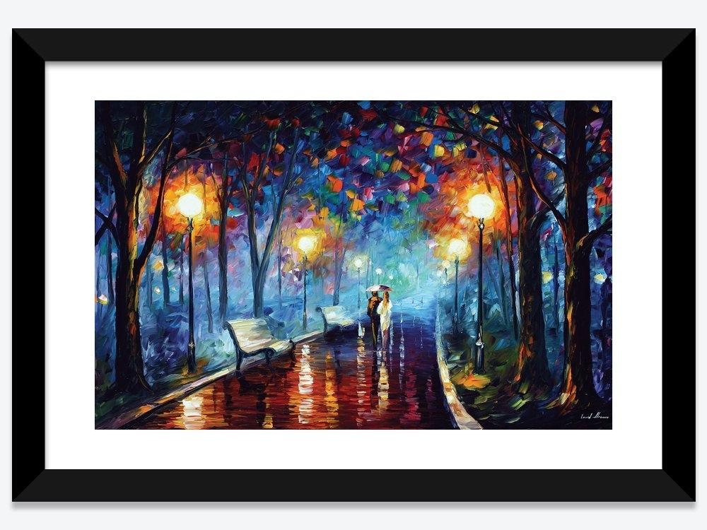 Misty Mood Framed Art Printleonid Afremov | Icanvas With Regard To Framed Art Prints (View 10 of 15)