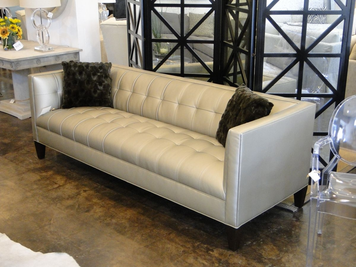 "Mitchell Gold 90"" Kennedy Sofa In Alloy – Pewter (View 8 of 10)"