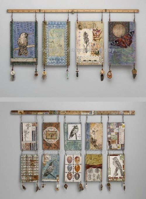 Mixed Media Wall Hangingstextile Artist Sharon Mccartney Within Cloth Fabric Wall Art (Image 12 of 15)