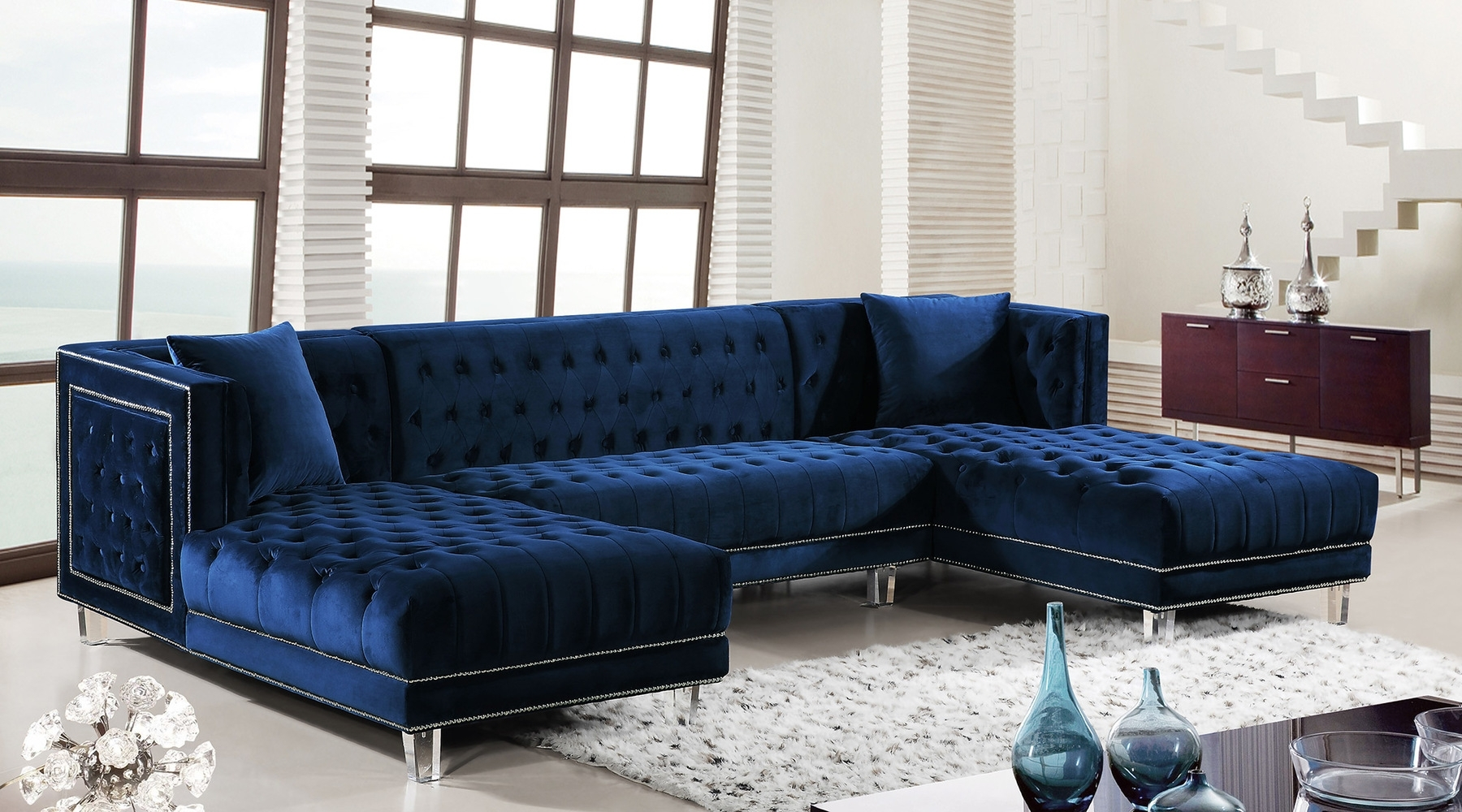 Featured Image of Blue Sectional Sofas