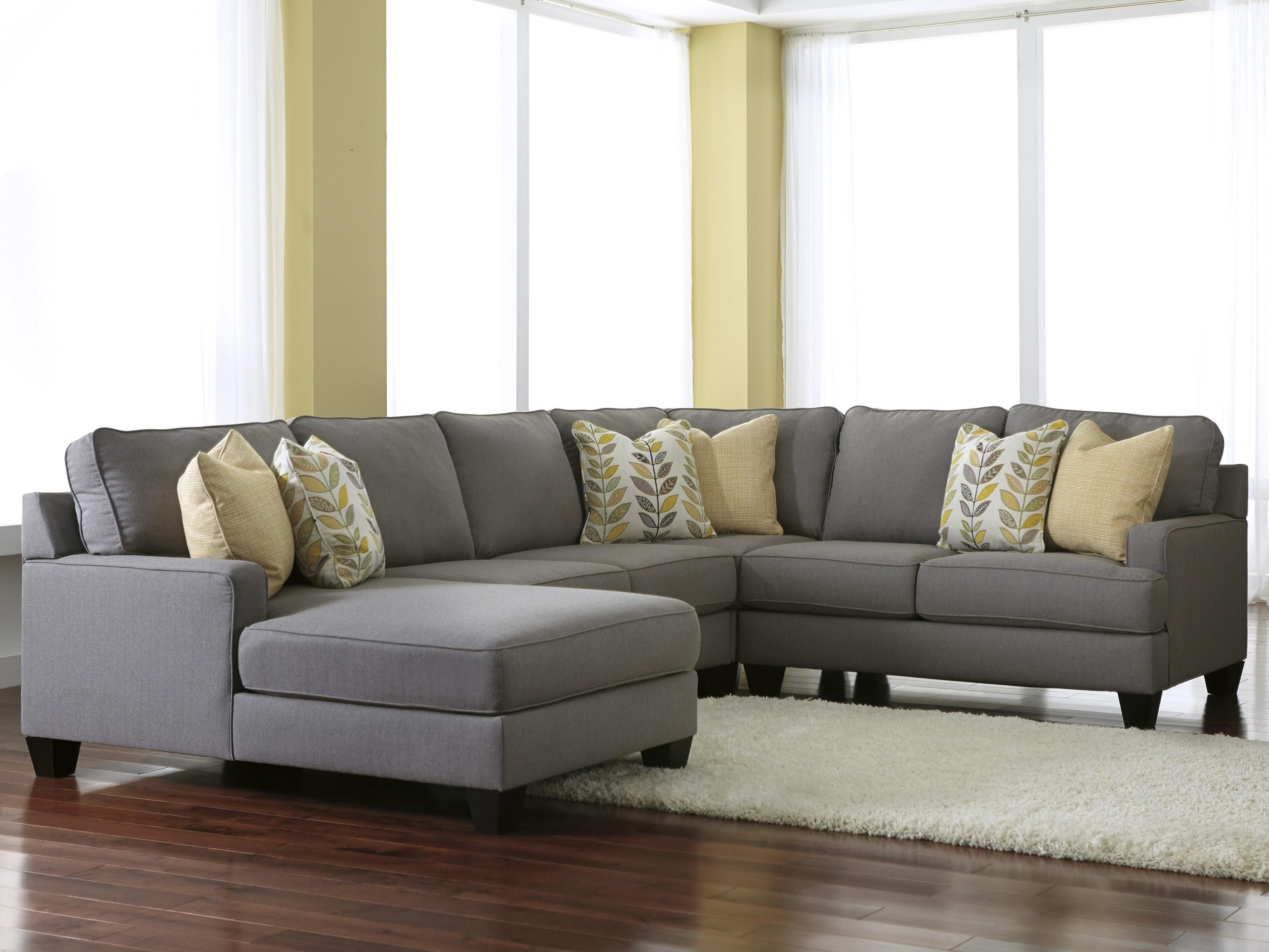 Modern 4-Piece Sectional Sofa With Left Chaise & Reversible Seat pertaining to Eau Claire Wi Sectional Sofas