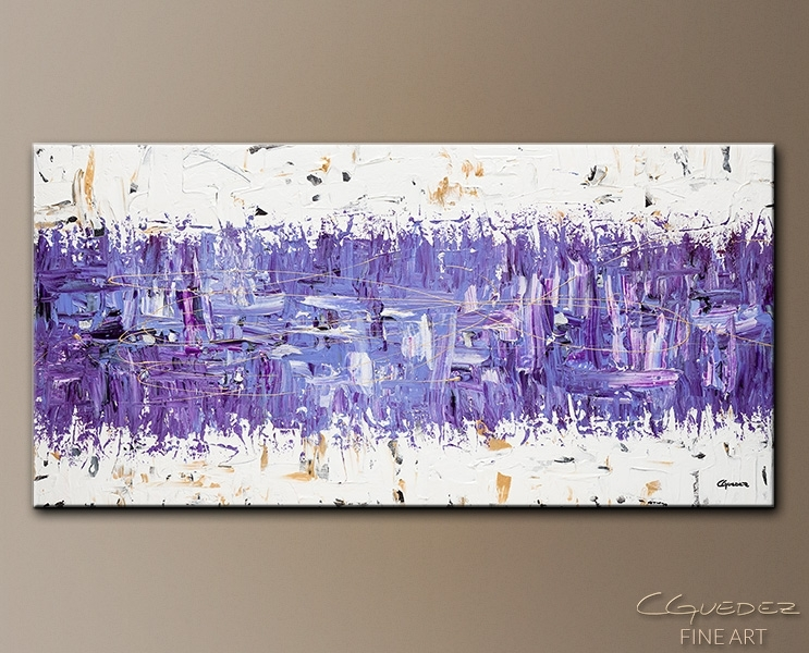 Modern Abstract Art – Purple Story – Contemporary Wall Art Canvas Intended For Purple And Grey Abstract Wall Art (Image 5 of 15)