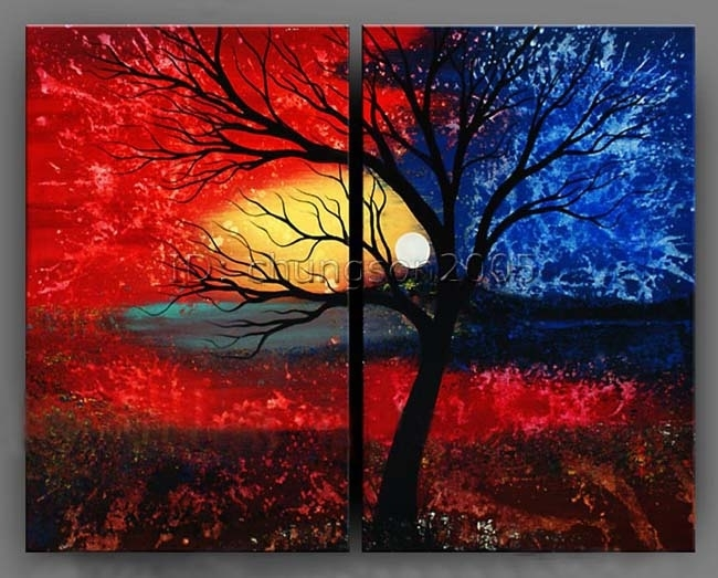 Modern Abstract Canvas Art Oil Painting Framed Gop Sale – Tierra With Regard To Modern Abstract Oil Painting Wall Art (View 12 of 15)
