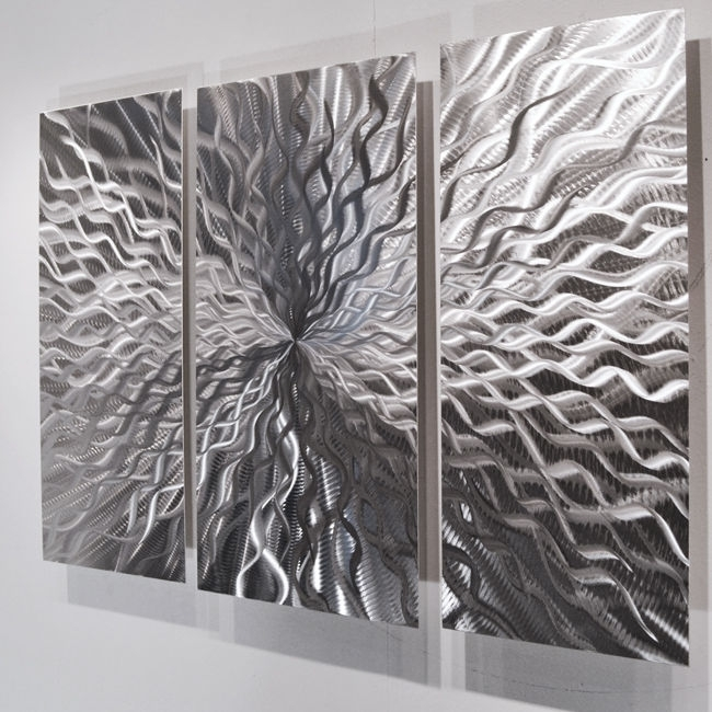 Modern Abstract Metal Wall Sculpture Art Contemporary Painting For Abstract Metal Wall Art Painting (View 13 of 15)