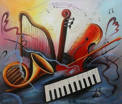 Modern Abstract Oil Painting Music Dance Canvas Living Room Wall Throughout Abstract Music Wall Art (View 13 of 15)