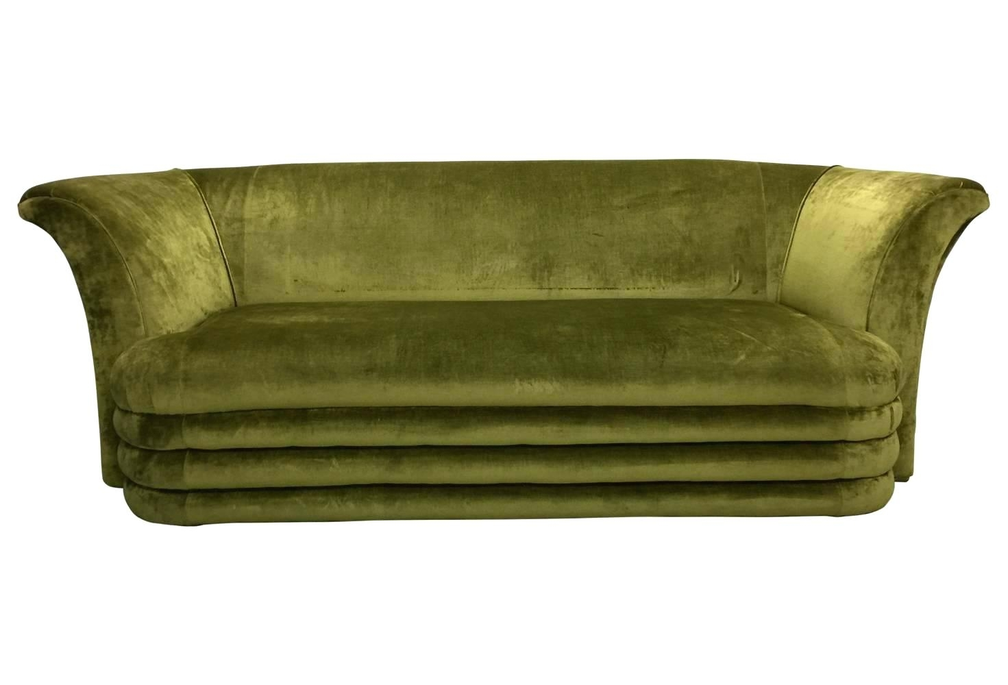 Modern Art Deco Furniture Mid Century Modern Art Inspired Chartreuse Intended For Art Deco Sofas (Image 8 of 10)
