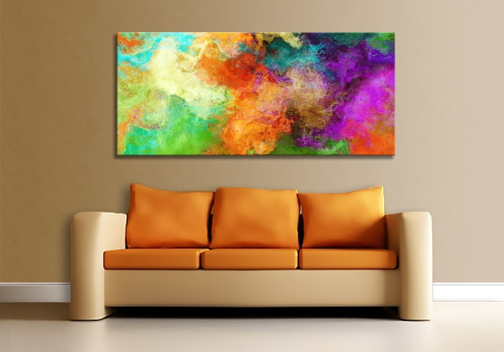 Modern Art Print On Canvas – Mother Earth Pertaining To Huge Abstract Wall Art (View 8 of 15)