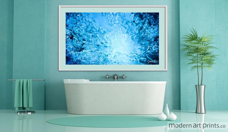 Bathroom framed wall art