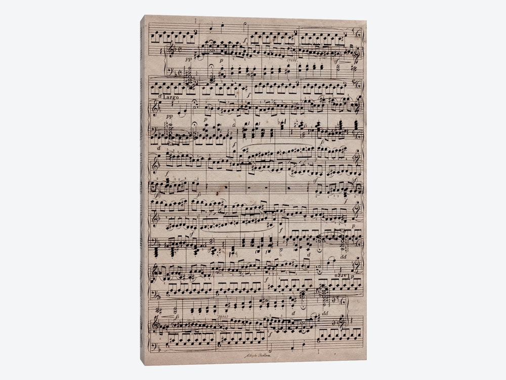 Modern Art – Sheet Music Ode To Joy Canvas Wa | 5By5Collective Pertaining To Joy Canvas Wall Art (View 15 of 15)