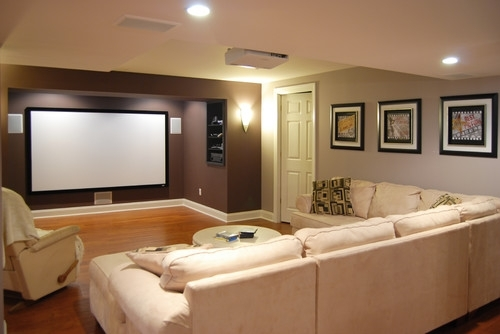 Modern Basement Wall Colors Painting A Basement To Appear Bigger In Brown Wall Accents (Image 11 of 15)