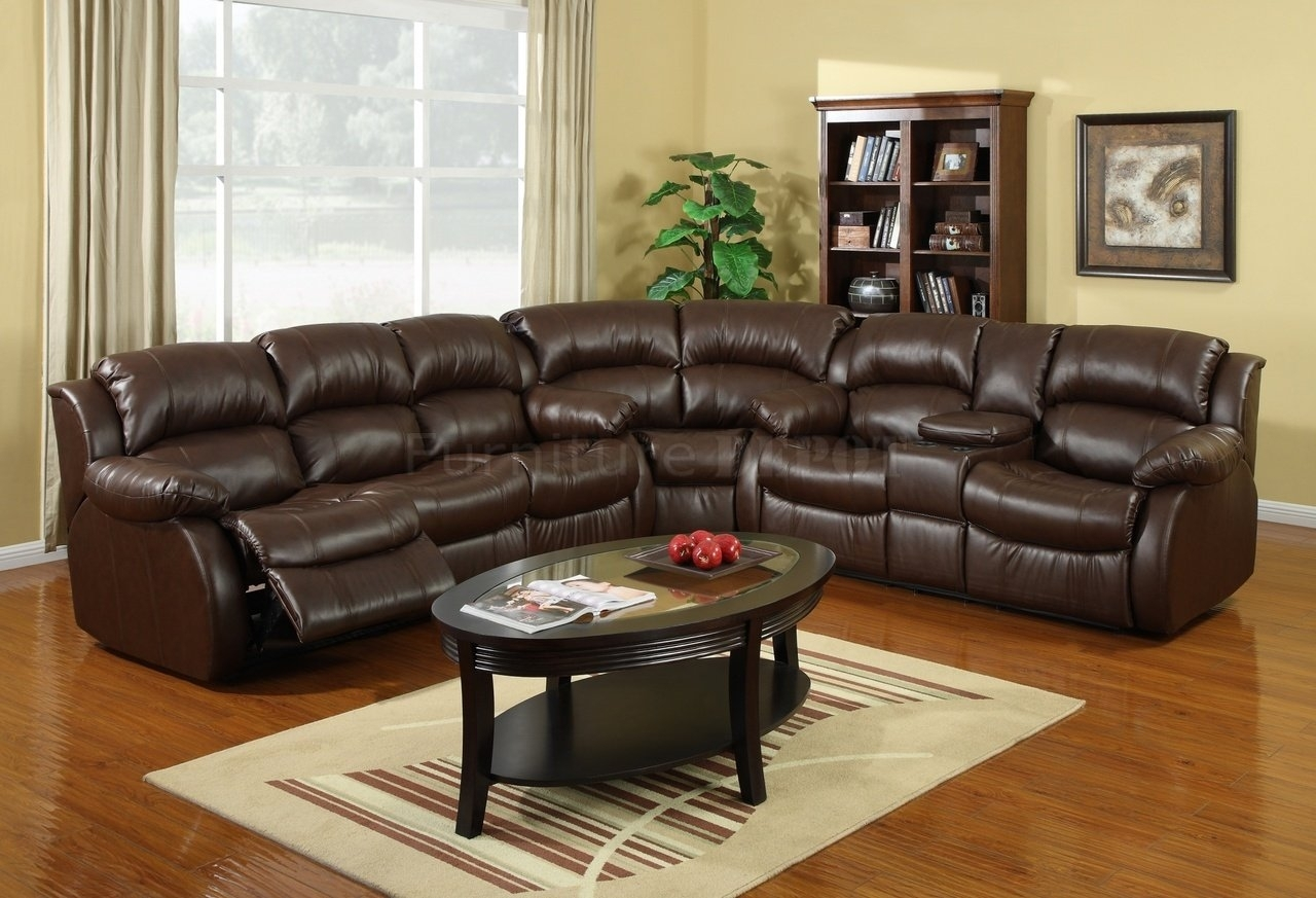 Modern Brown Leather Sectional Sofas With Recliners With Brown With Regard To Sectional Sofas With Recliners Leather (Image 7 of 10)