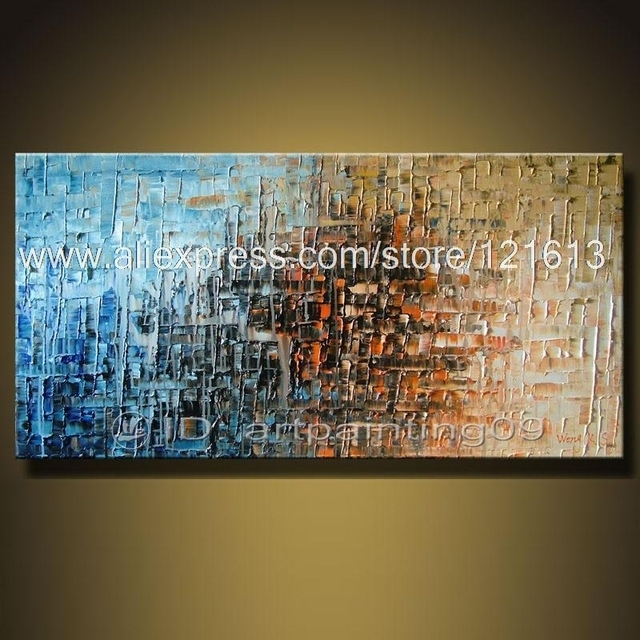 Modern Contemporary Abstract Landscape Oil Paintings Palette Knife For Abstract Landscape Wall Art (Image 10 of 15)