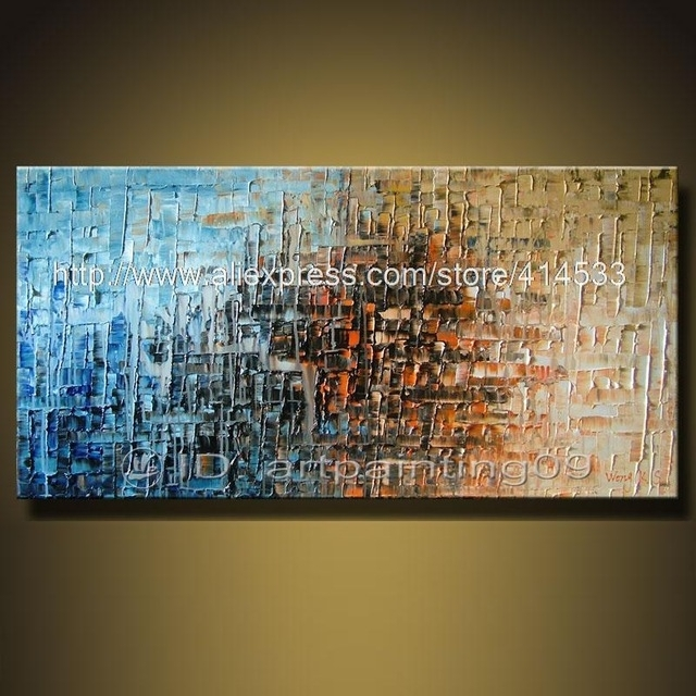 Modern Contemporary Abstract Landscape Oil Paintings Palette Knife Pertaining To Inexpensive Abstract Wall Art (View 14 of 15)
