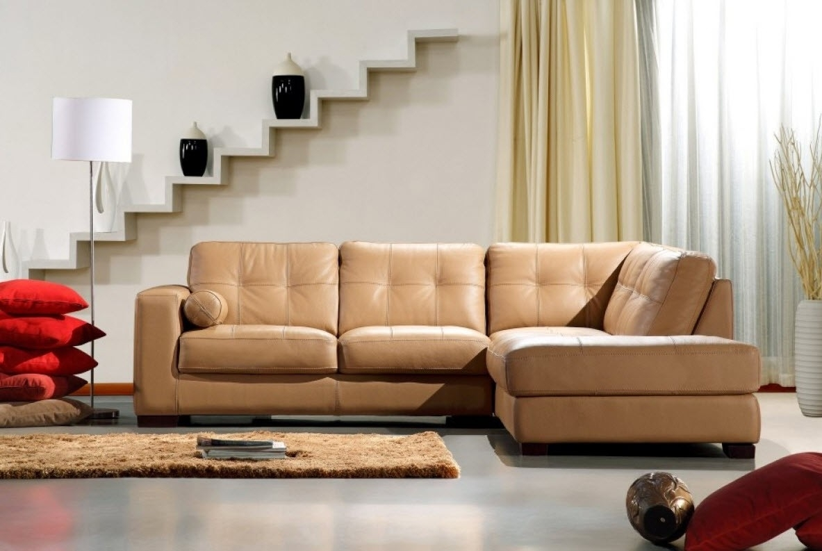 Modern Home And Office Furniture Store Divani Casa 306Ang Camel In Camel Sectional Sofas (Image 7 of 10)