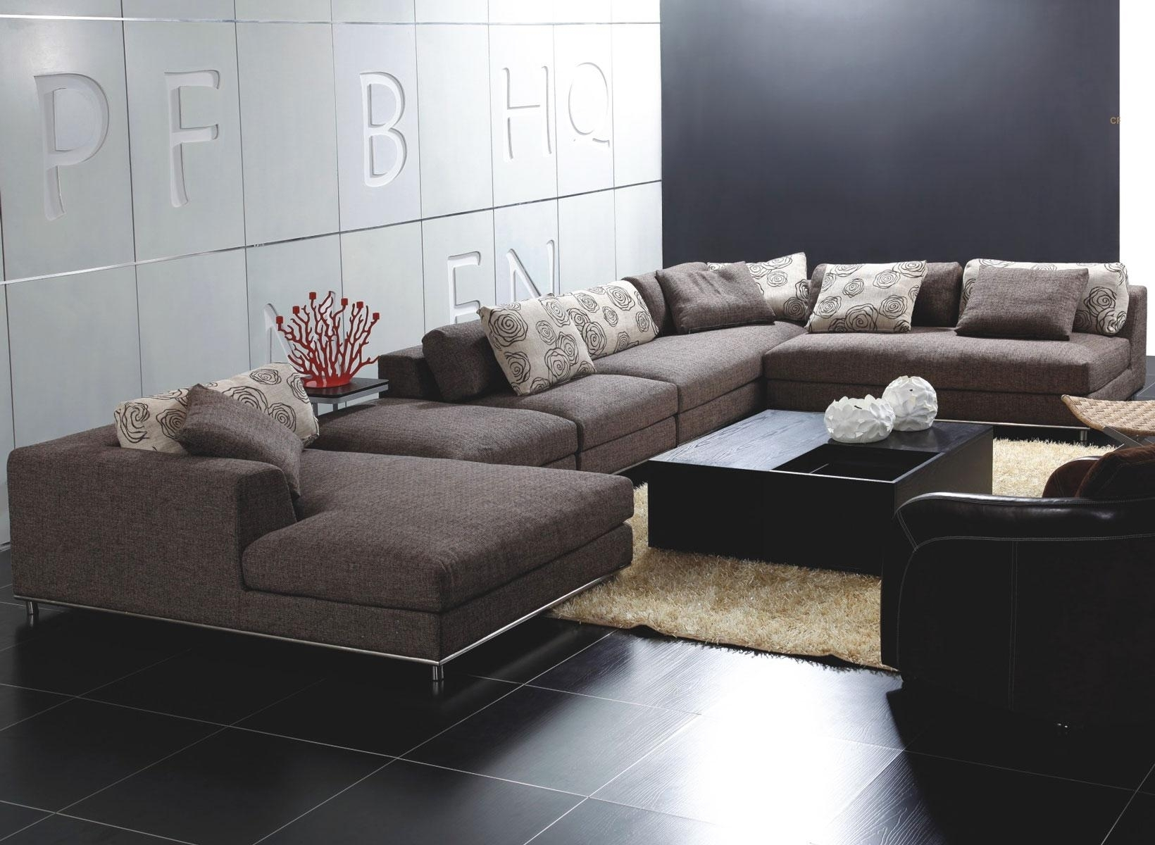 Modern Microfiber Sectional Sofas • Sectional Sofa Within Modern Microfiber Sectional Sofas (View 6 of 10)