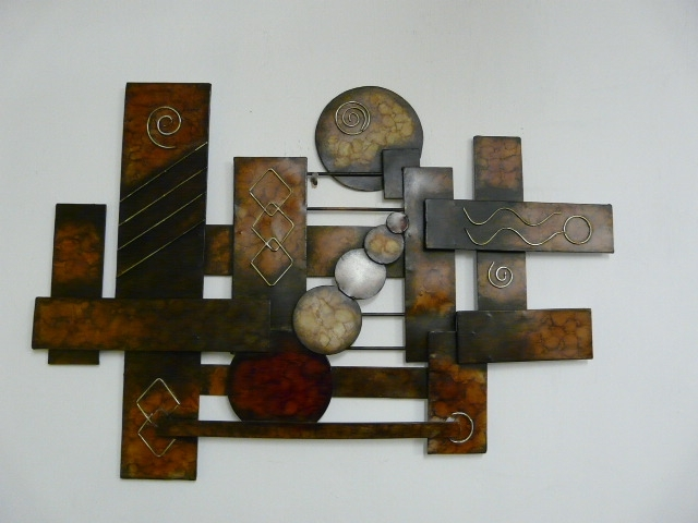 Modern Outdoor Metal Wall Art | Contemporary Metal Wall Art In Abstract Iron Wall Art (View 4 of 15)