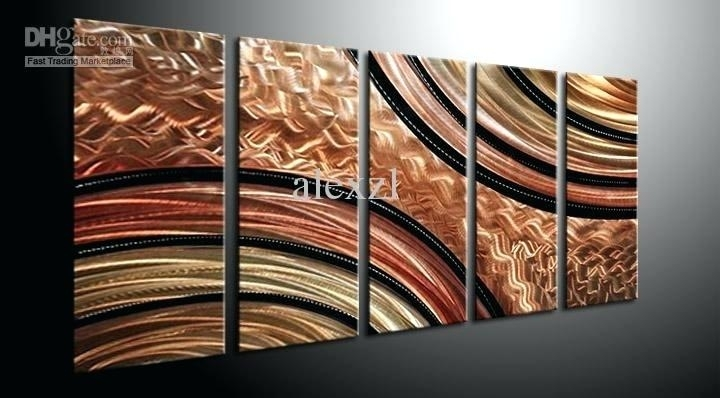 Modern Oversized Wall Art Metal Wall Art Abstract Contemporary Intended For Modern Abstract Huge Wall Art (Image 10 of 15)
