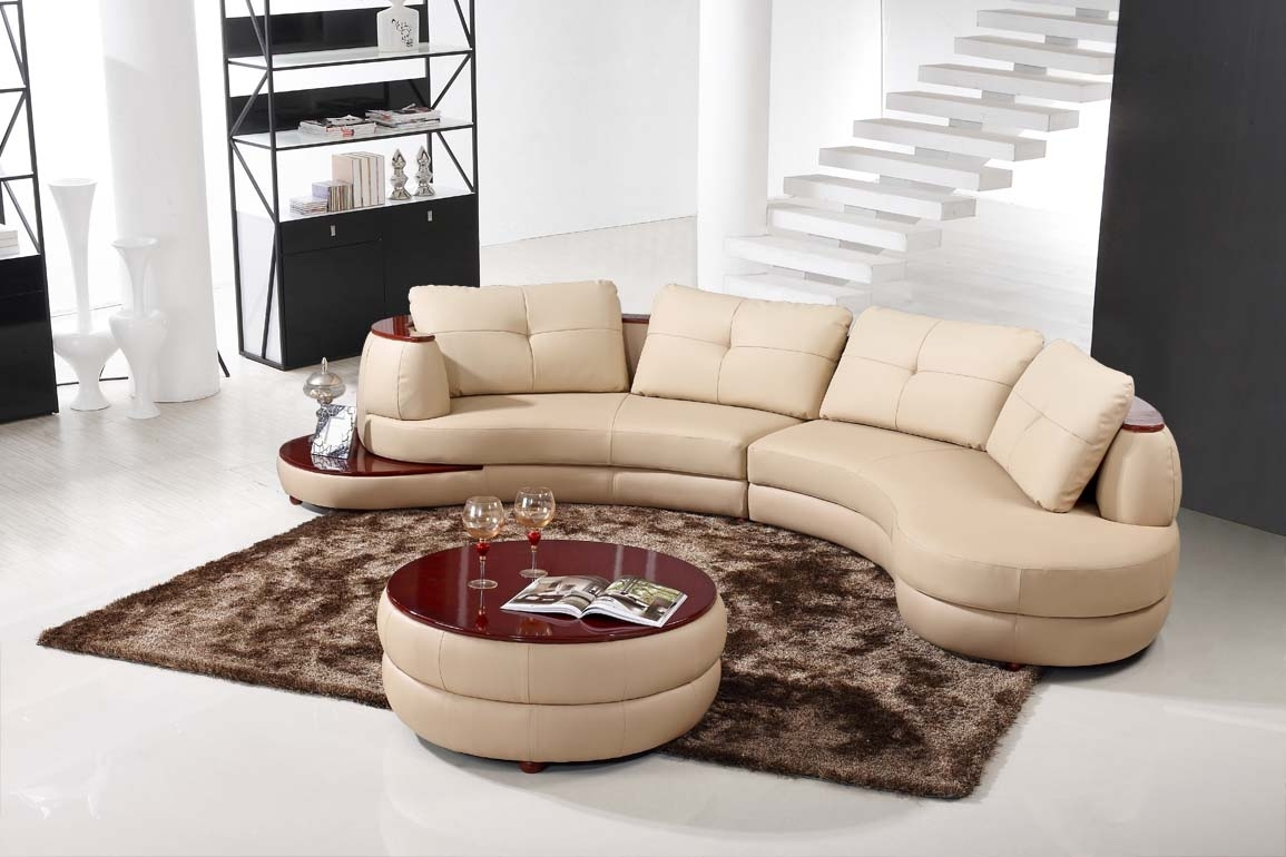 Modern Round Sectional Sofa — Fabrizio Design : How To Rebuild A Within Round Sectional Sofas (Image 7 of 10)