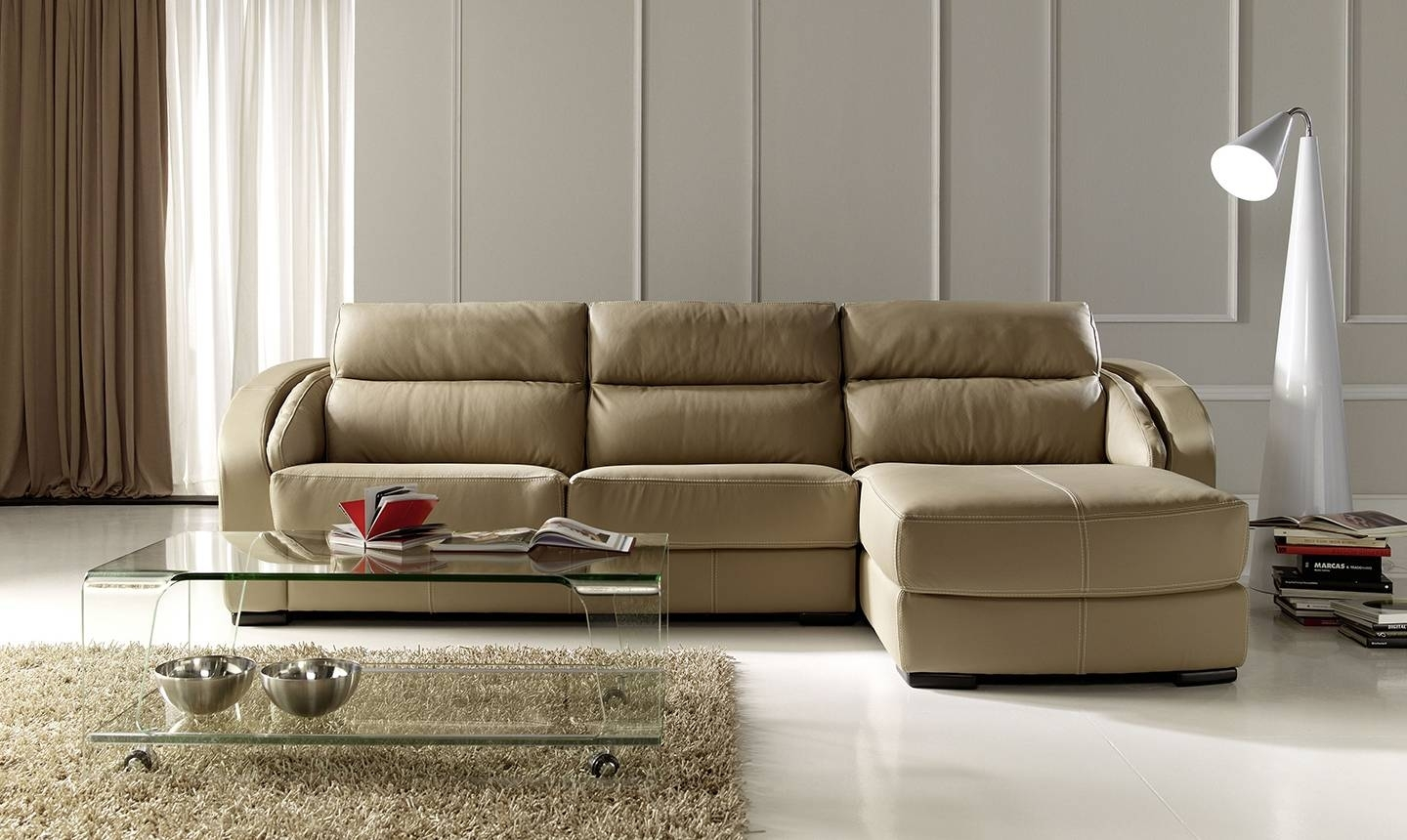 Modern Style Apartment Size Leather Sectional Sofa And Exquisite In Virginia Sectional Sofas (View 6 of 10)