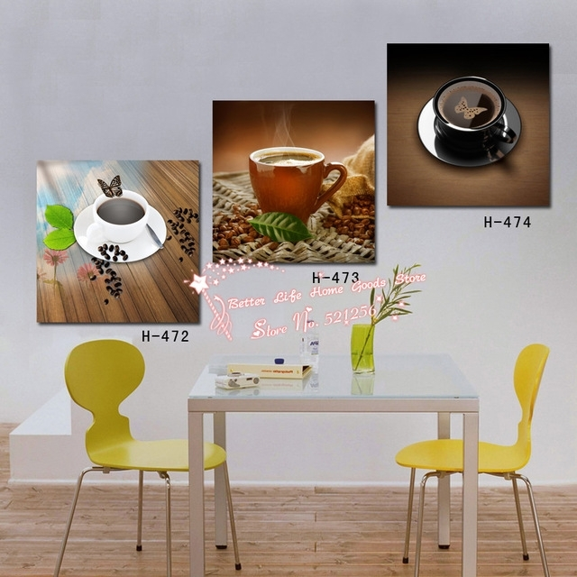 Modern Wall Art Home Decoration Printed Oil Painting Pictures 3 Pertaining To Abstract Kitchen Wall Art (Image 12 of 15)
