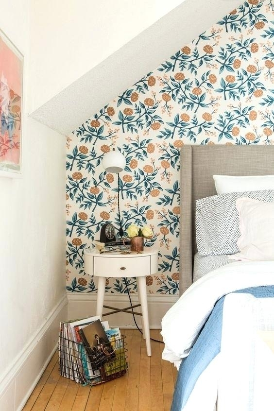 Modern Wallpaper Accent Wall Lovely Modern Floral Wallpaper To In Australia Wall Accents (View 9 of 15)