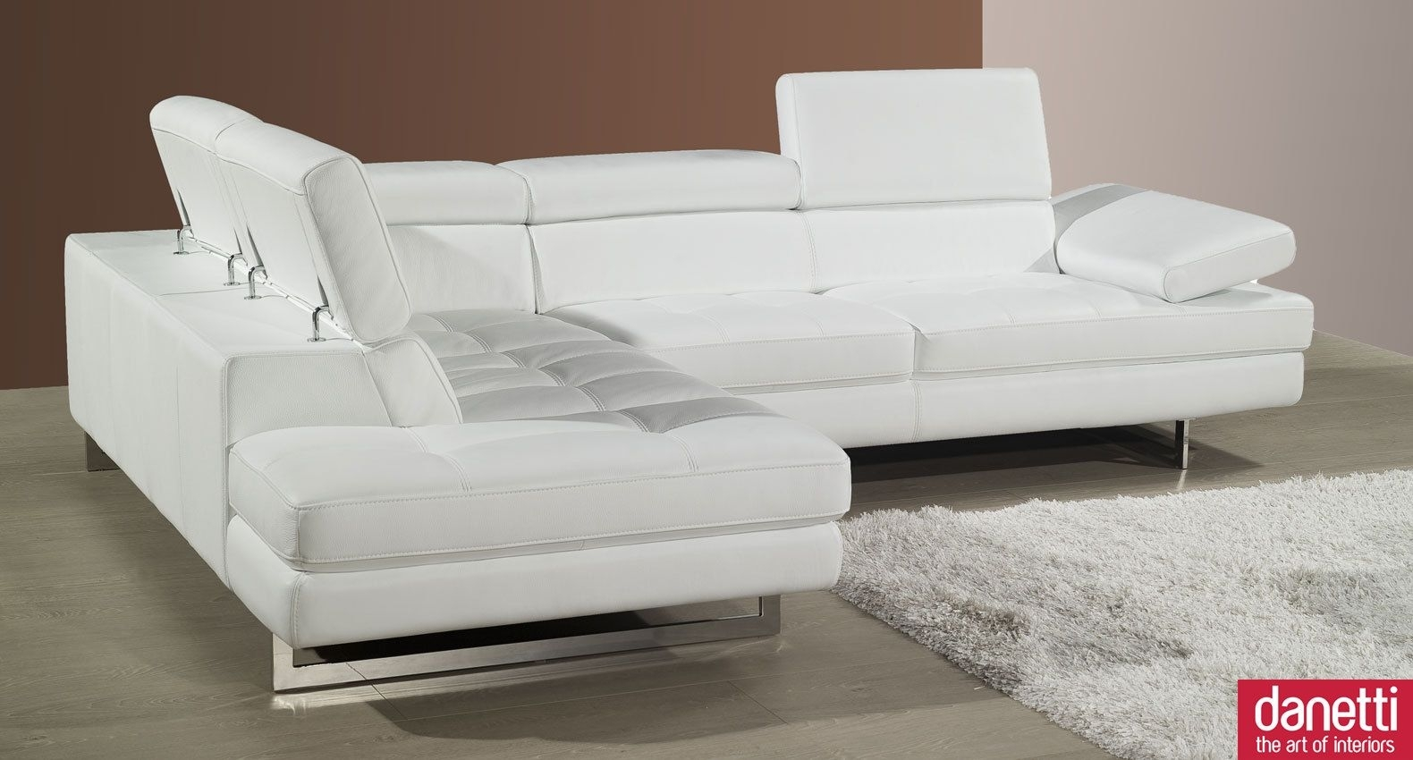 Modern White Leather Couchimage Gallery | Image Gallery | Idi Design Throughout White Leather Corner Sofas (Image 9 of 10)