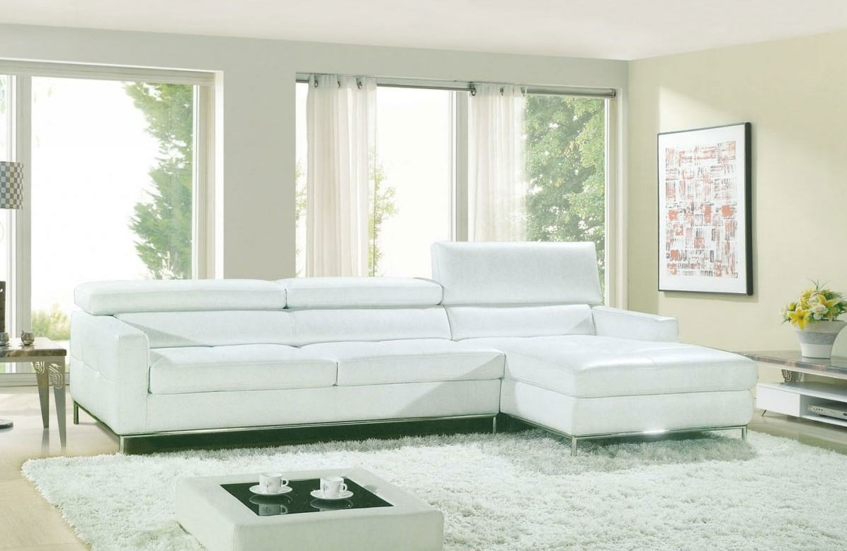 Modern White Sectional Sofa Vg800 | Leather Sectionals Throughout White Sectional Sofas (Image 3 of 10)