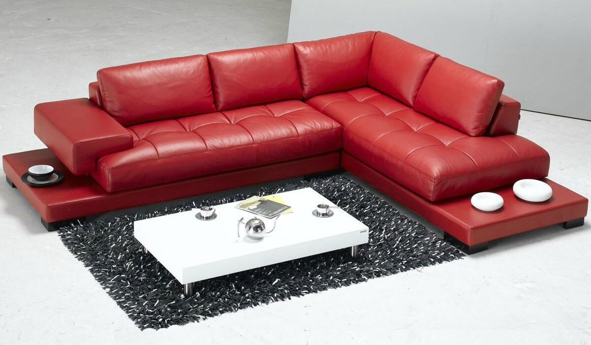 Modest Red Modern Sofa 18 Stylish Sectional Sofas | Www For Kingston Sectional Sofas (View 10 of 10)