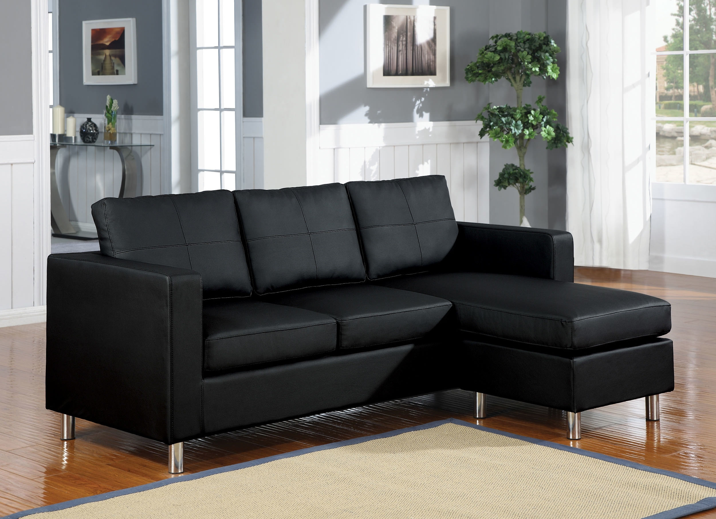 Modular Sectional Sofas Designs Ideas Plans Model Design Kemen Sofa Regarding Black Leather Sectionals With Ottoman (Image 6 of 10)