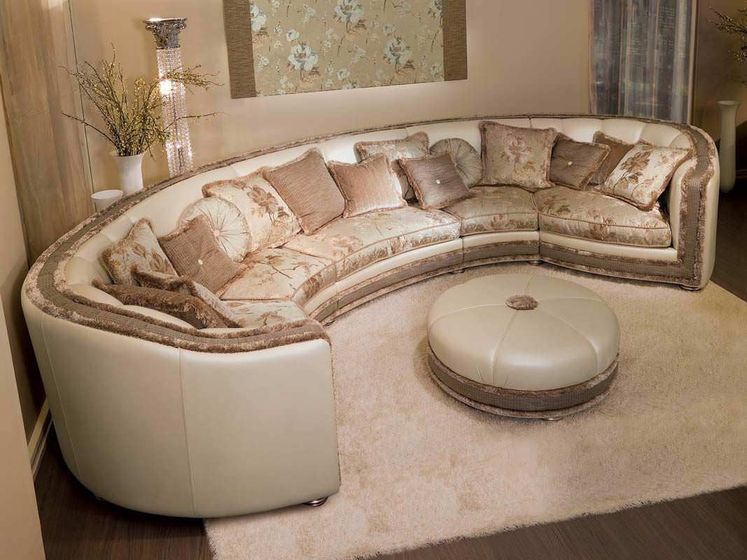 Modular Sofa / Semicircular / Classic / Fabric – Venere – Pigoli Inside Semicircular Sofas (View 7 of 10)