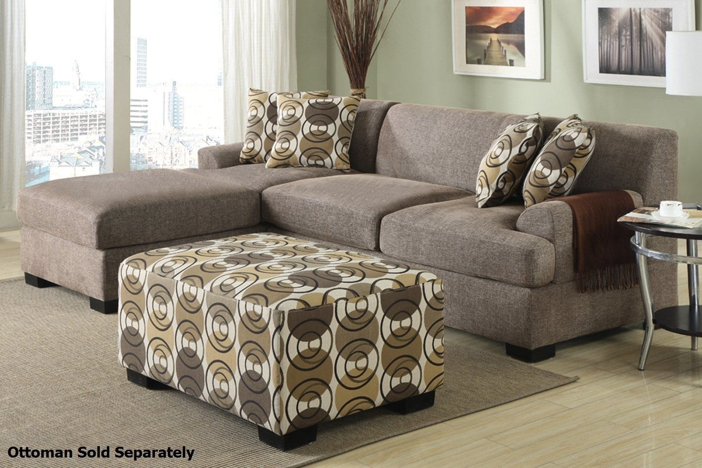 Montreal Ii Beige Fabric Sectional Sofa – Steal A Sofa Furniture Intended For Montreal Sectional Sofas (View 6 of 10)
