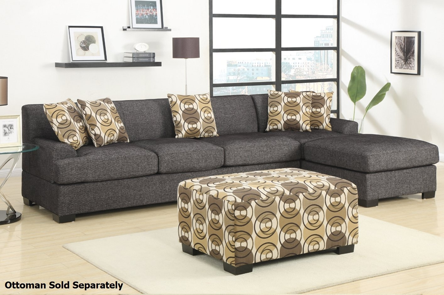 Montreal Iii Grey Fabric Sectional Sofa – Steal A Sofa Furniture In Montreal Sectional Sofas (View 10 of 10)