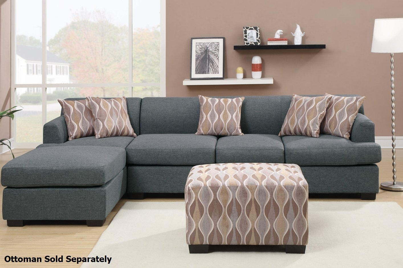 Montreal Iii Grey Fabric Sectional Sofa – Steal A Sofa Furniture Throughout Montreal Sectional Sofas (View 5 of 10)